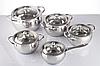 Набор посуды из нержавеющей стали 10 предметов Maestro Jambo Apple MR-3509-10 | кастрюля Маестро, ковш Маэстро, фото 3