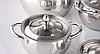 Набор посуды из нержавеющей стали 10 предметов Maestro Jambo Apple MR-3509-10 | кастрюля Маестро, ковш Маэстро, фото 6