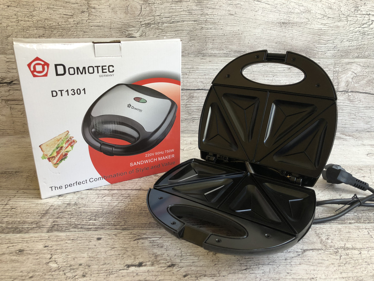Бутербродница/Сендвичница /Тостер гриль Domotec 1301