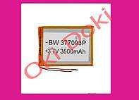 Литий-полимерный аккумулятор BW 377093P 3,7V 3500 mAh 70x96mm