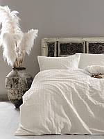 Комплект постельного белья 200x220 LIMASSO SNOW WHITE VOGUE SATIN молочный