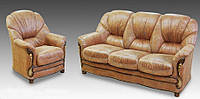 Комплект мягкой мебели Кармен (кожа) Курьер, фото 1