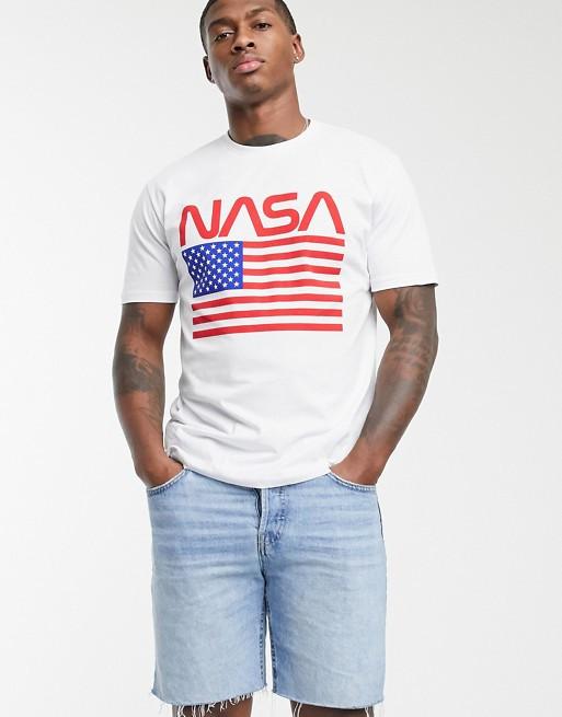 Футболка белая Nasa USA • насса