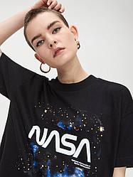 Футболка чёрная NASA cosmo stars • насса
