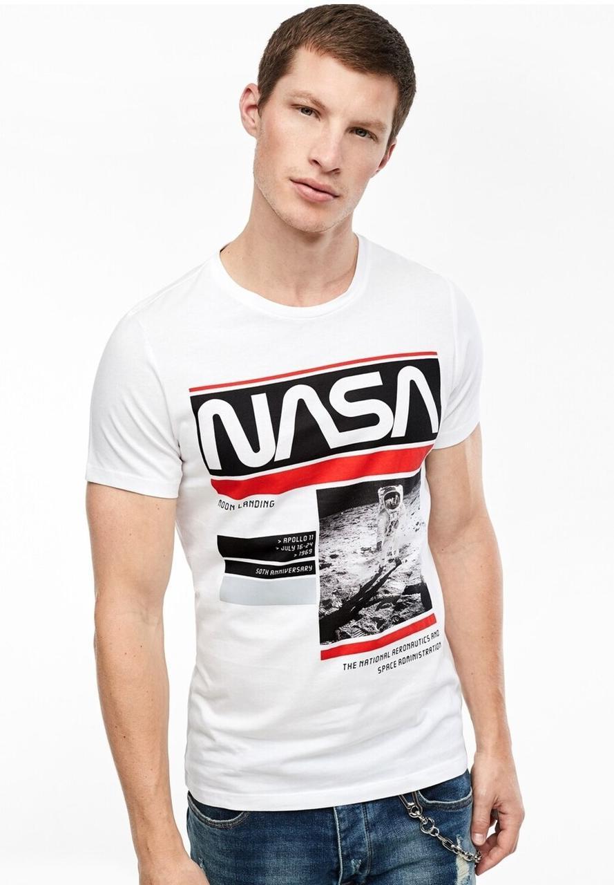 Футболка белая NASA R • насса
