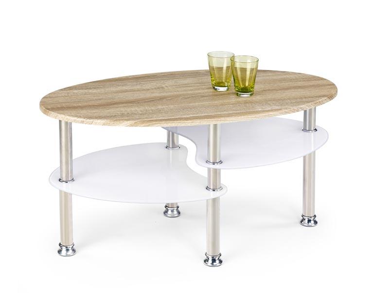 Журнальный стол MEDEA дуб сонома/белый (90х50х45) Halmar