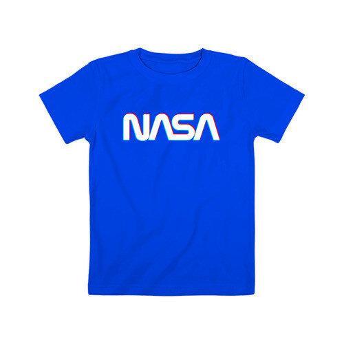 Футболка синяя NASA • насса