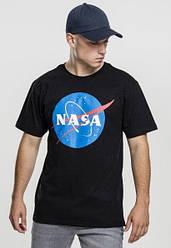 Футболка чёрная NASA Logo • насса