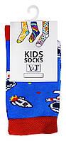 Носки детские Kids Socks V&T classic ШДКг 132--024-0368 С космонавтами р.14-16 Темно-голубой