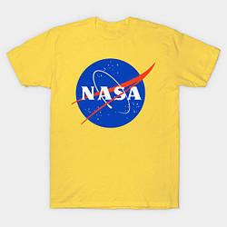 Футболка жёлтая NASA logo • насса