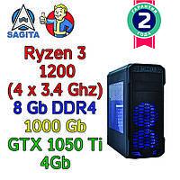 Игровой компьютер / ПК  ( AMD Ryzen 3 1200  4 x 3.1GHz / A320 / 8Gb DDR4 / 1 Tb / GTX 1050 Ti  / 500W), фото 1