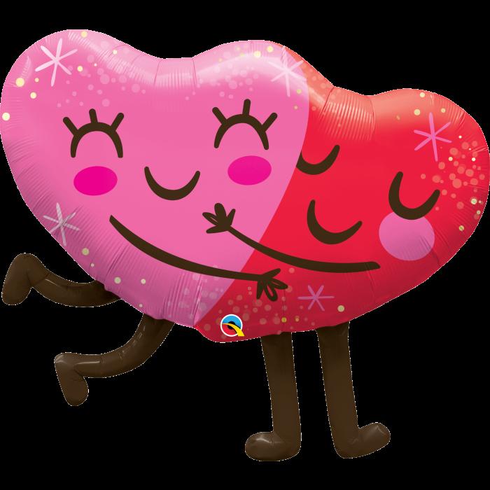 """Q 36"""" Hugging Hearts"""
