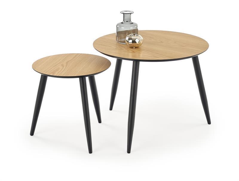 Журнальный стол MENTONA 2  золотой дуб комплект (40х40х40 и 60х60х48) Halmar