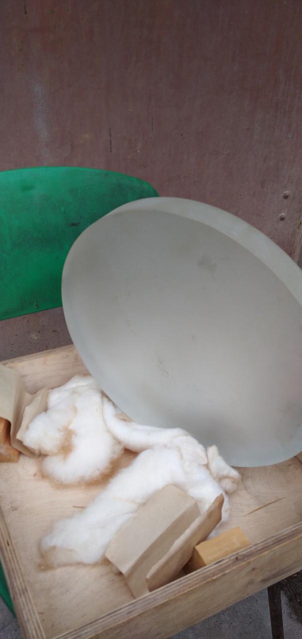 Стекло  с зеркальным напылением D300 мм L35 мм( К8)