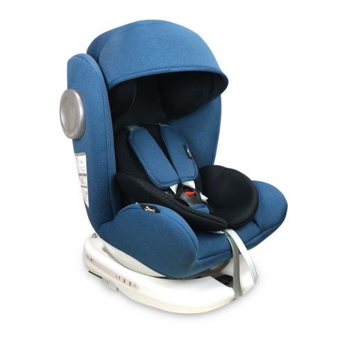 Детское автокресло Lorelli Lusso SPS Isofix black/blue (0-36 кг) (Болгария)