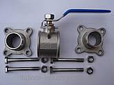 Нержавеющий кран на шпильках AISI 316 DN 40, фото 2