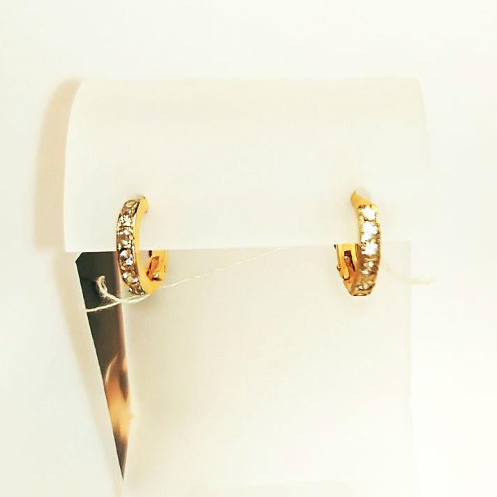 Серьги колечки золотые