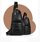 Сумка-рюкзак на одно плечо кобура слинг Jeep 1941 Черная / J1941 black ViPvse, фото 6