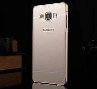 Металлический бампер для Samsung A7 A700 с задней панелью, фото 1