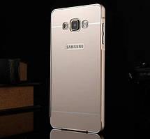 Металлический бампер для Samsung A7 A700 с задней панелью