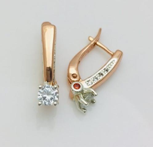 Сережки FJ Fallon 2202186-01, висота 19 мм, ширина 5 мм , родій