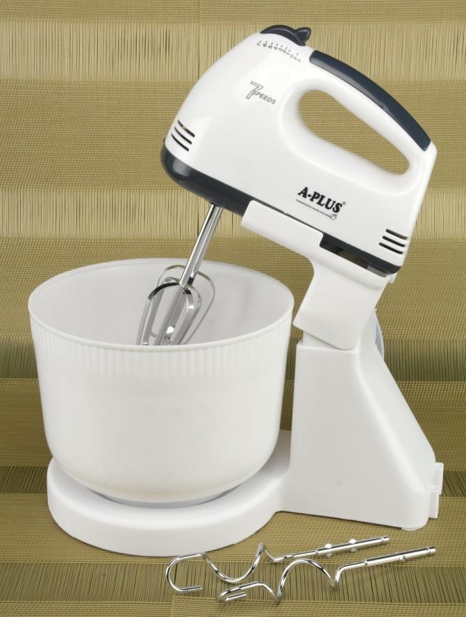 Миксер электрический ручной с чашей 300 Вт 7 скоростей A-Plus 1555