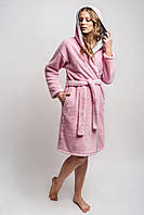 Халат женский розовый, размер М