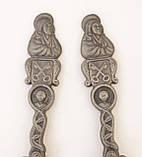 Дві старі колекційні олов'яні ложки, олово, Німеччина, фото 4