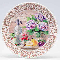 Тарелка декоративная «Гортензия», d-23,5 см (263-2304)