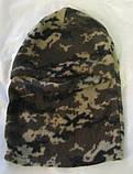 Флисовая шапка-маска (балаклава) камуфлированная, фото 4
