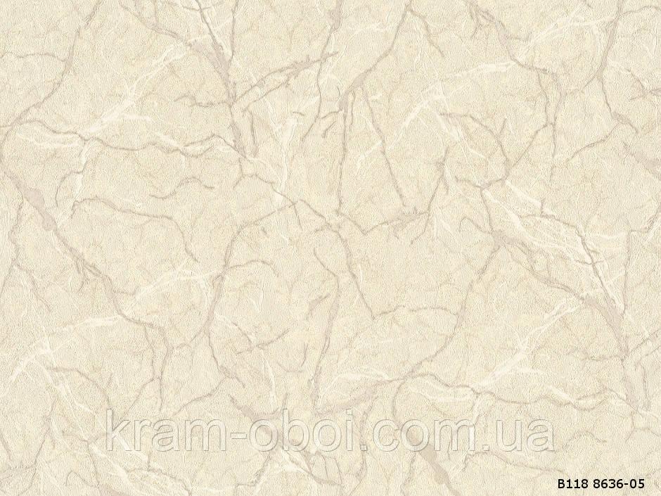 Шпалери Слов'янські Шпалери КФТБ вінілові гарячого тиснення шовкографія 10м*1,06 9В118 Джакарта 2 8636-05