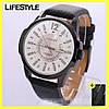 Мужские часы Curren Coloradо (Белый циферблат) + Подарок!