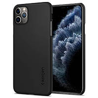 Чехол Spigen для iPhone 11 Pro Max Thin Fit, Black (075CS27127), фото 1