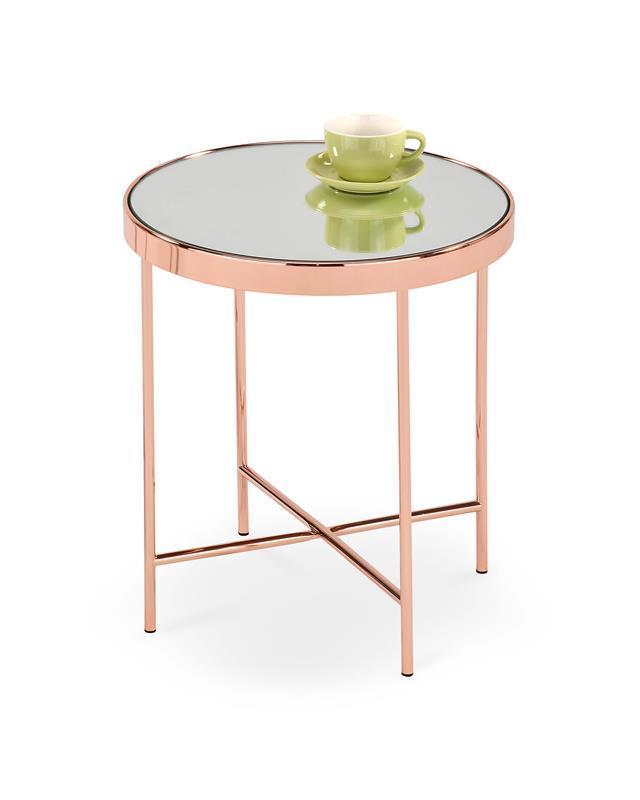 Журнальний стіл MIRA мідь (42x46) Halmar