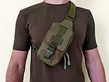 Тактическая EDC сумка однолямочная. Цвета: олива, койот, чёрный, фото 2