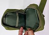 Тактическая EDC сумка однолямочная. Цвета: олива, койот, чёрный, фото 3