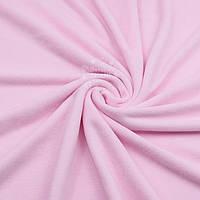 Однотонный х/б велюр бледно-розового цвета