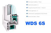 Окна и двери из  профильной системы WDS 6S