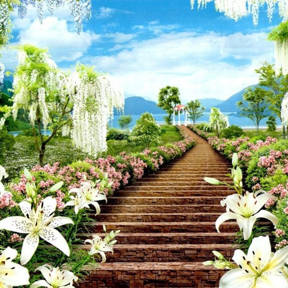 Фотообои, Цветочный рай, 15 листов, размер 201х242см