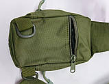 Тактическая EDC сумка однолямочная. Цвета: олива, койот, чёрный, фото 5