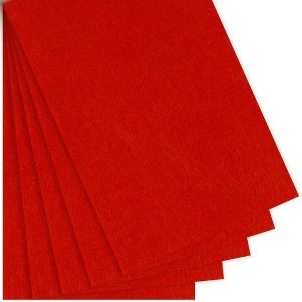Фетр 3 мм, червоний