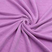 Однотонный х/б велюр, цвет сиренево-розовый