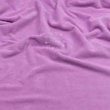 Однотонный х/б велюр, цвет сиренево-розовый, фото 2