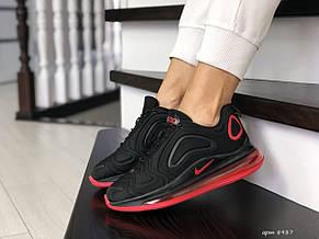 Модные женские кроссовки Nike Air Max 720,черные с красным, фото 2