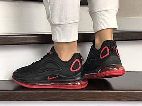 Модные женские кроссовки Nike Air Max 720,черные с красным, фото 3