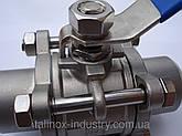 Нержавеющий кран трех составной сварка/сварка DN 80, фото 3
