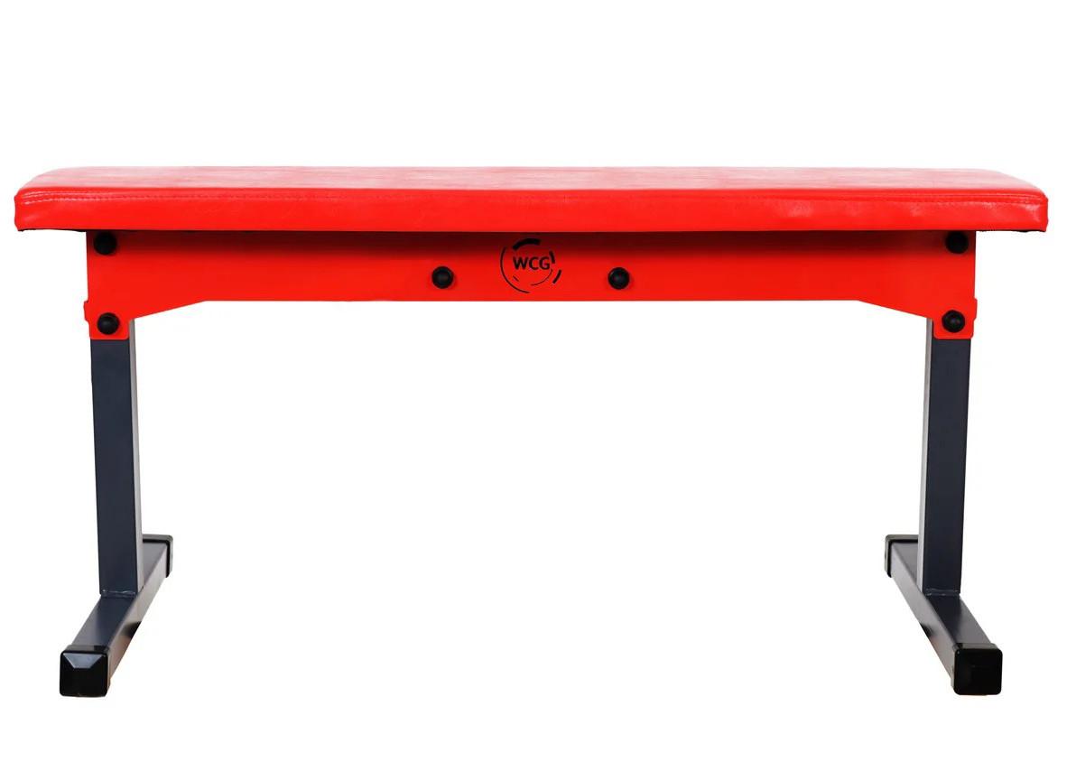 Скамья для жима горизонтальная складная WCG Red под штангу