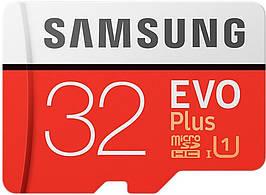 Карта памяти MicroSDHC 32GB UHS-I Class 10 Samsung Evo Plus + Adapter SD (MB-MC32GA/RU)