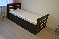 Односпальная кровать деревянная