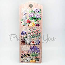 Доска длинная для нарезки сувенирная 'Прованс Цветы' (263-8302)